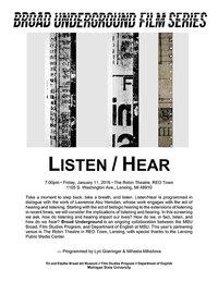 Listen/Hear series poster