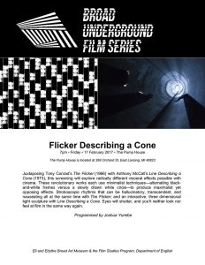 flicker describing a cone series poster