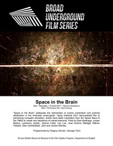 space in the brain series poster