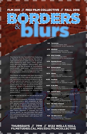 Borders and Blurs Film Collective Poster