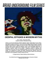 Oedipal effigies and modern myths poster
