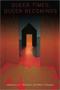 Dark door with red background